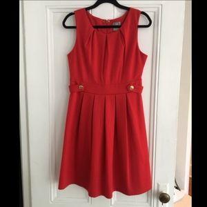 Anthropologie Hi There Karen Walker Red Dress